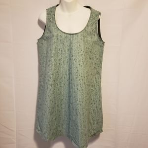 Moss Green Scooe Neck Sleeveless Dress